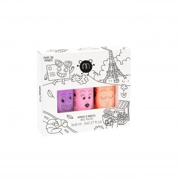 Coffret 3 vernis - Paris néon (Marshi, Dolly & Flamingo)