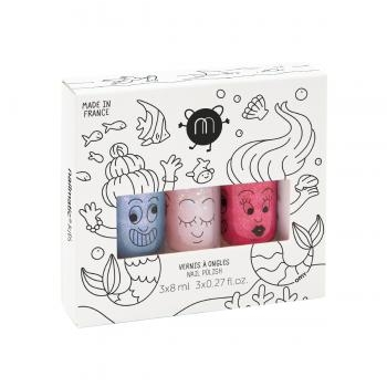 Coffret 3 vernis – Mermaid (Merlin, Polly & Roxy)