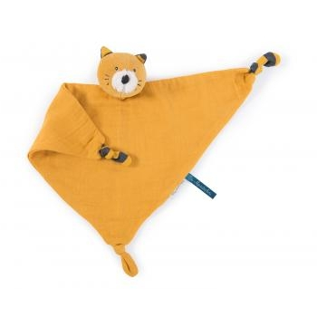 DOUDOU PLAT CHAT MOUTARDE - LES MOUSTACHES