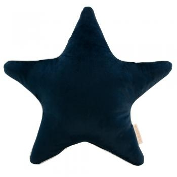 COUSSIN ETOILE ARISTOTE VELOURS NIGHT BLUE