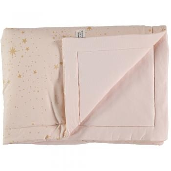 COUVERTURE LAPONIA 100X140 GOLD STELLA DREAM PINK