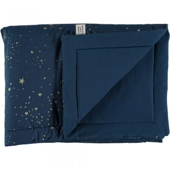 COUVERTURE LAPONIA 100X140 GOLD STELLA NIGHT BLUE